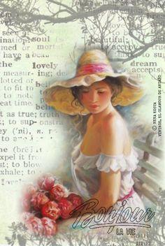 VINTAGE, EL GLAMOUR DE ANTAÑO: Damas Primaverales (láminas digitales)
