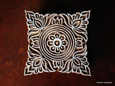 Hand Carved Indian Wood Textile Stamp Block by charancreations, $27.00
