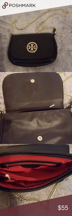 Black leather beautiful crossbody bag. Black leather beautiful crossbody bag.  Unsure of authenticity. No serial numbers to run, so I'm selling it at a low price. no name Bags Crossbody Bags