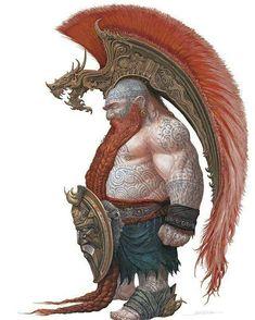 Male dwarf with amazing headdress! #dwarf #writingfantasy #fantasycharacters
