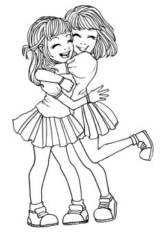 pinyooper girl on color hair coloring pages bff