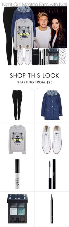 """""""Night Out Meeting Fans with Niall"""" by elise-22 ❤ liked on Polyvore featuring Topshop, Kenzo, Converse, Kate Spade, NARS Cosmetics, shu uemura, Givenchy and ASOS"""