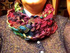 beautifulfae's Braided Hairpin Lace Infinity Scarf