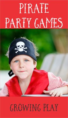 5 Pirate Party Games from Growing Play Pirate Games For Kids, Pirate Party Games, Pirate Activities, Birthday Party Games For Kids, Indoor Games For Kids, Activities For Girls, Fun Party Games, Pirate Birthday, Pirate Theme