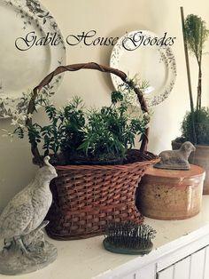 *~1890~* Small Bathroom Window, Bathroom Windows, Gable House, Colonial, Primitive, Planter Pots, Easter Decor, Bunnies, Crafts