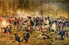 The battle of Camden during the revolution of the Spanish America Revolutionary War Battles, American Revolutionary War, American War, American History, American Soldiers, Native American, American Indians, British History, Louis Xvi