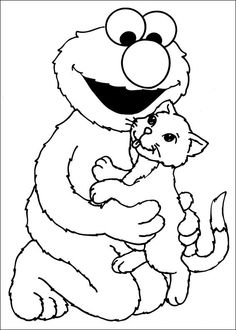 Elmo sesame street valentines day coloring pinterest for Elmo valentine coloring pages