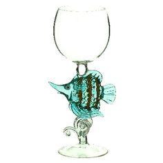 Angel Fish Wine Glass - Fire & Ice
