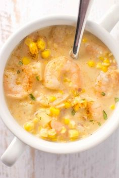 Slow Cooker Cajun Corn and Shrimp Chowder