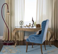 Sheer and not-so sheer.  This designer tries to stay away from the puddled look because it's not ideal for homes with shedding animals.  Instead, I opf to drapes that break directly at the surface of the floor.  The overall look is clean, tailored and carefree.