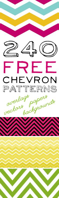 240 Free Chevron Patterns! #printable #photoshop #graphic