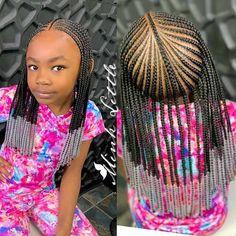 Black Kids Hairstyles, Girls Natural Hairstyles, Kids Braided Hairstyles, Little Girl Hairstyles, Kids Braids With Beads, Braids For Kids, Kid Braids, Tree Braids, Long Braids