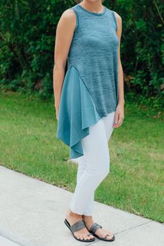 Casual chic is easy in this asymmetrical top! How would you style this blouse?