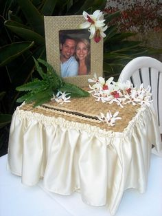 Beach Themed Wedding Card Box