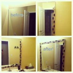 Bathroom tile mirror project