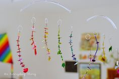 Art Activities in a Reggio Inspired Homeschool - Bead and Sequins Mobiles - An Everyday Story