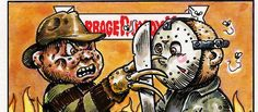 We are back with another round of horror icons reimagined as Garbage Pail Kids (or garbage pail-like kids).