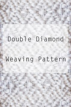 Weaving Loom Diy, Weaving Art, Tapestry Weaving, Hand Weaving, Weaving Textiles, Weaving Patterns, Weaving Designs, Stitch Patterns, Knitting Patterns