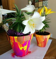 Make some fun paint drip flower pots! These are so fun to make for summer, Mother's Day or grandparents day! Choose any colors, they turn out super awesome.  Supplies Needed: Acrylic paint Clay flower pot Cardboard Spread out cardboard then turn the flower pot upside down. Leave the sticker covering the hole! Have the …