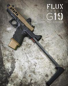 Custom Glock, Custom Guns, Glock 19 Gen 4, Glock Guns, Assault Weapon, Tactical Equipment, Cool Guns, Wolverines, Guns And Ammo