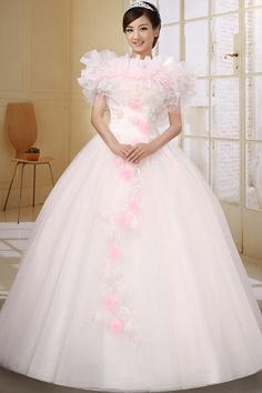 Pink Wedding Dress With Off The Shoulder Neckline Appliques and Beaded Decorate On Organza Ball Gown Summer Wedding Gowns, Wedding Dresses 2014, Princess Wedding Dresses, Cheap Prom Dresses, Cheap Wedding Dress, Bridal Dresses, Bridesmaid Dresses, Gown Wedding, Off Shoulder Evening Dress