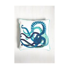 Karma Living Nautical Pacific Pairing Pillow ($45) ❤ liked on Polyvore featuring home, bed & bath, bedding, bed pillows, mint and sheets - basics