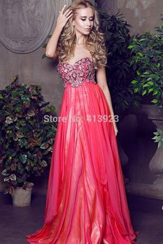 d16c6ab26e Aliexpress.com   Buy 2014 New Fashion Hot Sale Chiffon Sweetheart Gorgeous Beaded  Floor Length Evening Dress 2014 from Reliable dress fat suppliers on ...