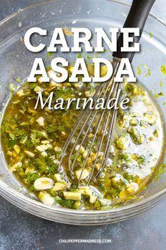 Carne Asada Marinade, Meat Marinade, Marinades For Steak, Mexican Chicken Marinade, Carne Asada Fries, Flank Steak Recipes, Chicken Marinade Recipes, Mexican Food Recipes, Beef Recipes