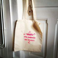 cadeau des maîtresses tote bag peinture textile