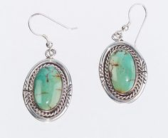 Native American Turquoise Earrings  Green by littlethingsvintage, $68.00
