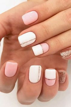 20 Beautiful Summer Nail Designs Summer Nails 39 Hottest Summer Nail Colors and Designs to Wear This Season Cute Summer Nail Designs, Cute Summer Nails, Pretty Nail Designs, Nail Summer, Short Nail Designs, Stripe Nail Designs, Easy Nail Art Designs, Pedicure Summer, Best Summer Nail Color