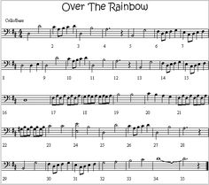 Over The Rainbow Melody for Cello/Bass