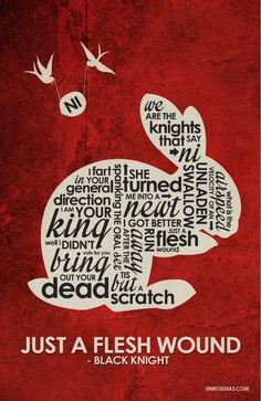 Monty Python and the Holy Grail Inspired Quote Poster