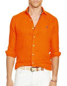 POLO RALPH LAUREN Polo Ralph LaurenLinen Sport Shirt. #poloralphlauren #cloth #