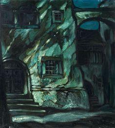 Oskar Mulley (Austrian, 1891–1949), Nachtstimmung [Night], c.1919. Oil on cardboard, 66.5 x 60 cm.
