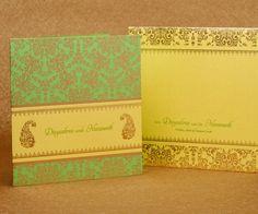 Classic-New-WC50 Traditional Wedding Invitations, Creative Wedding Invitations, Indian Wedding Invitations, Invites, Paisley Design, Floral Design, Invitation Kits, Diwali, Event Decor