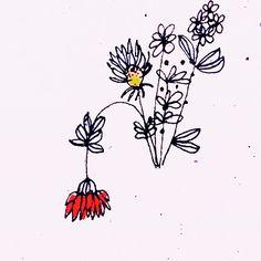 #linoleum #flowers #red #illustration #art
