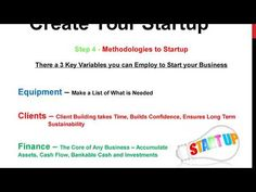 Create A Startup - How to Start a Business - Methods of Starting a Business - Registration and Revenue Services - Marketing Demand and Exposure Lists To Make, How To Make Money, What Is Need, Confidence Building, Starting A Business, Finance, Lipstick, Marketing, Create