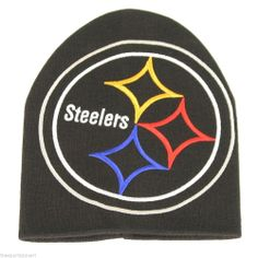 Pittsburgh Steelers Large Logo Cuffless Knit Hat #Pittsburgh Steelers Visit our website for more: www.thesportszoneri.com