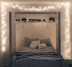 Dorm Lights Description Dress up your dorm, apartment or bedroom with these majestic string lights! These string lights are 10 feet long and the ultimate bedroom lighting decoration you need! Length: 10 Feet Premium quality LED light chain with timer and plug Timer & Memory Extendable LED String Lights with plug to fit different areas IP44 Waterproof and small mini LED heads 1 Year Warranty Perfect for your Instagram! Love your life. Love your light. Small Room Bedroom, Room Ideas Bedroom, Bedroom Decor, Bedroom Lighting, Tiny Bedrooms, String Lights Bedroom, Decor Room, Bedroom Ideas For Small Rooms Cozy, Light Bedroom