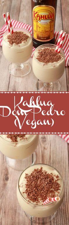 Vegan Kahlua Milkshake, also known as a Kahlua Dom Pedro. Double-thick, ultra-creamy, fabulously boozy, this is the perfect way to end off a celebratory meal! #vegan #lovingitvegan #dompedro #kahlua #milkshake #dairyfree #dessert