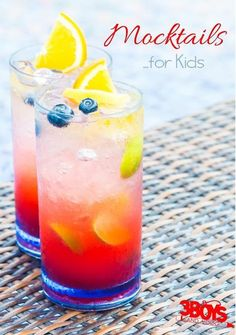 "These mocktails for kids aren't just for kids. From sparkling drinks to creamy beverages, these refreshments mimic their alcohol-infused counterparts, but are safe for most children and pregnant women!  I say ""most"" because if you have an allergy to one of the ingredients, then it just might not be safe for you."