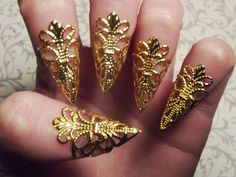 Gold Dragon Claws // Nail Armor // Set of 5 by JekyllHydeJewelry, $18.00