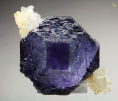 Fluorite with large phantoms on Quartz from Shangbao Mine, China