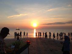 Sunset at Jimbaran bay, south Bali