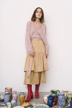 Maryam Nassir Zadeh - Pasarela falda volantes skirt