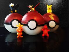 Pokeball Soap with Pokemon Toys in the Middle by InnerSunSoap