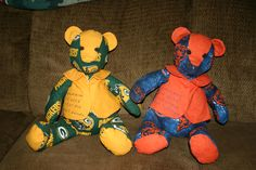 Green Bay Packers and The Bears teddy bears