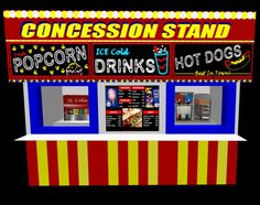 concession stand :)                                                                                                                                                                                 More