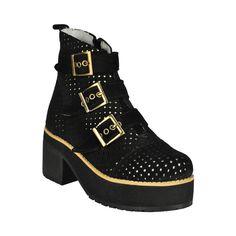 Botín de mujer matilde negro Biker, Sky, Shoes, Fashion, Women's Booties, Black People, Heaven, Shoes Outlet, Fashion Styles